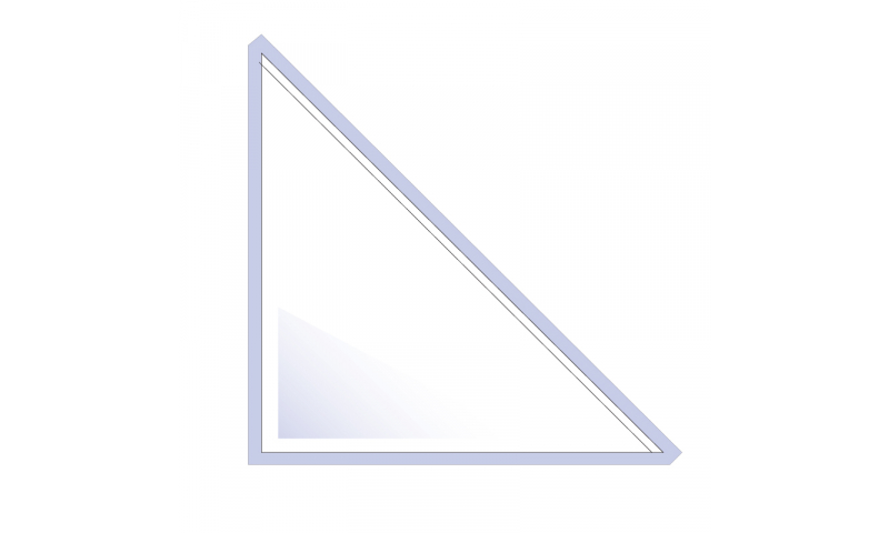 Flipfile Self Adhesive Triangle Corner Pockets, 145mm High x 145mm Base