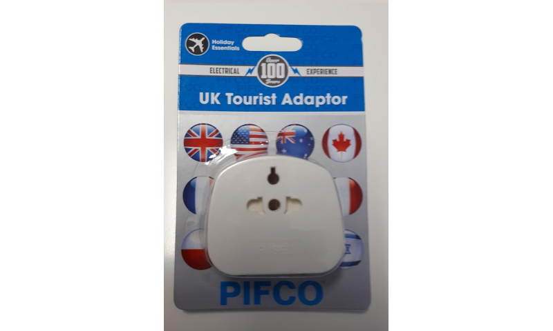 Pifco Travel Adaptor for Visitors to Ire/UK Carded