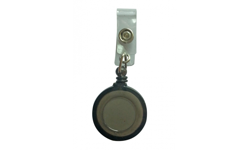 Plastic Small Pull Reel Keyring, 50cm Cable