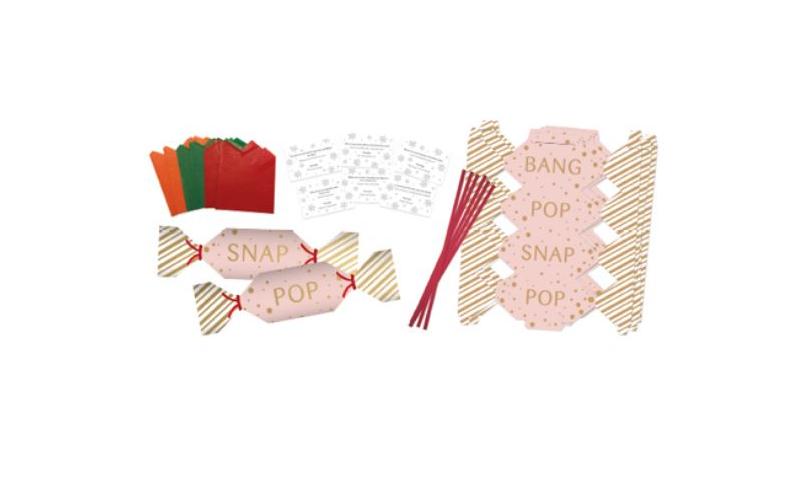 Xmas Make Your Own Mini Cracker Kit, 4 asstd