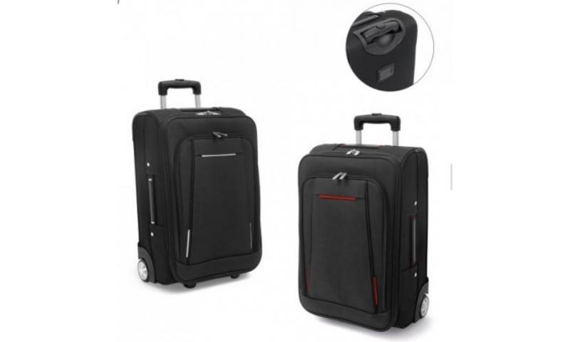 Santini Trolley Case Overnighter, Telescopic Handle, 4 Outside Pockets, Internal Organiser, 49x36x20.5cm