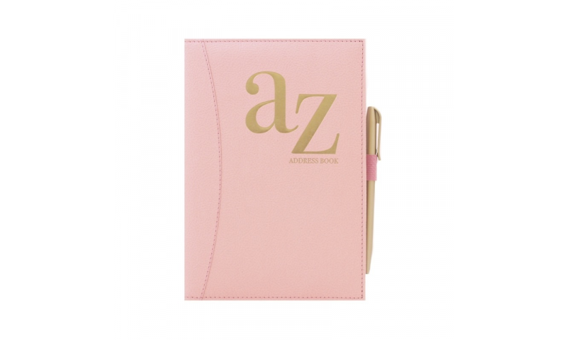 Just to Say A5 Pink Softy Cover A-Z Address Book & Pen