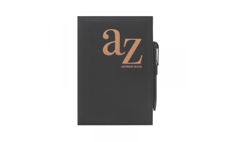 Just to Say A5 Black Softy Cover A-Z Address Book & Pen