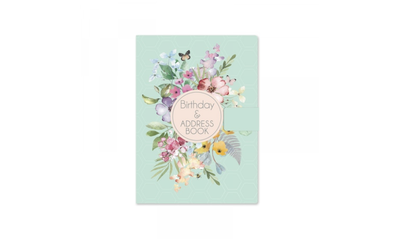 Just to Say A5 Luxury Satin Address & Birthday Book, Floral Designs