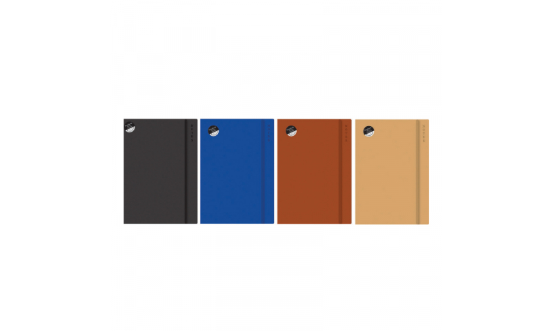 Just Stationery A4 Soft Touch Notebook with elastic binding (Counter Display)
