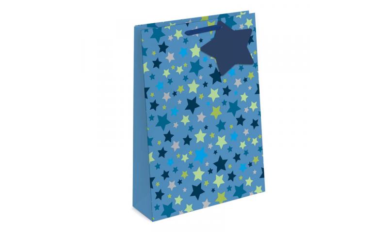 Foil Stars Gift Bags EX-Large, 440 x 320 x 110mm, 2 asstd