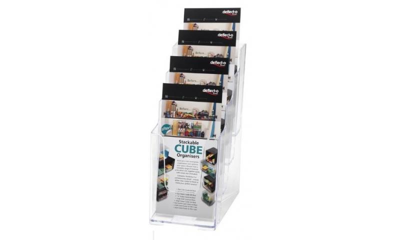 Deflecto 4 Tier Acrylic Countertop Leaflet Holder Holders DL