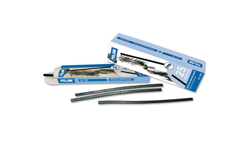 Milan Charcoal sticks 3-5mm Pack of 25 Sticks
