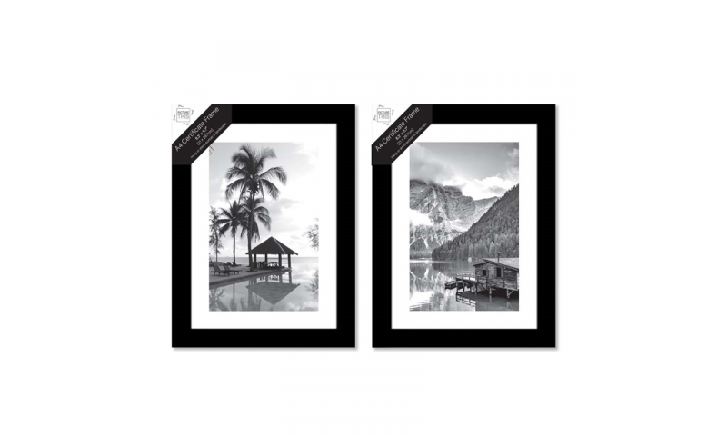 Just to Say A4 Picture Frames Black or White in CDU