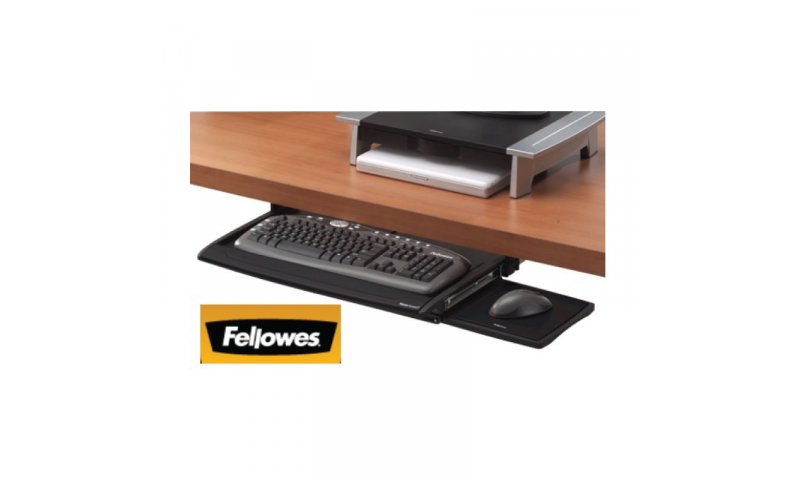 Fellowes Under Desk Keyboard Drawer, Wristrest & Mouse Station (New Lower Price for 2021)