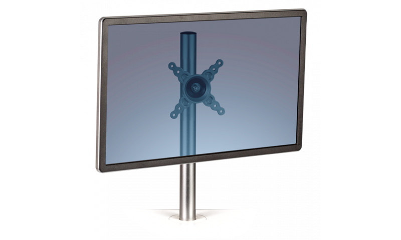 Fellowes Lotus Chrome Adjustable Monitor Arm - Single Screen (New Lower Price for 2021)