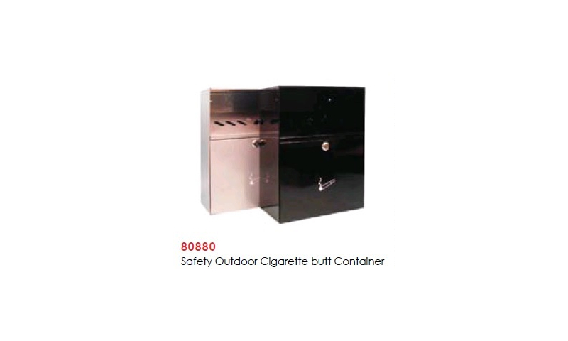Steel Safety Outdoor Wall Mounted Cigarette Butt Container