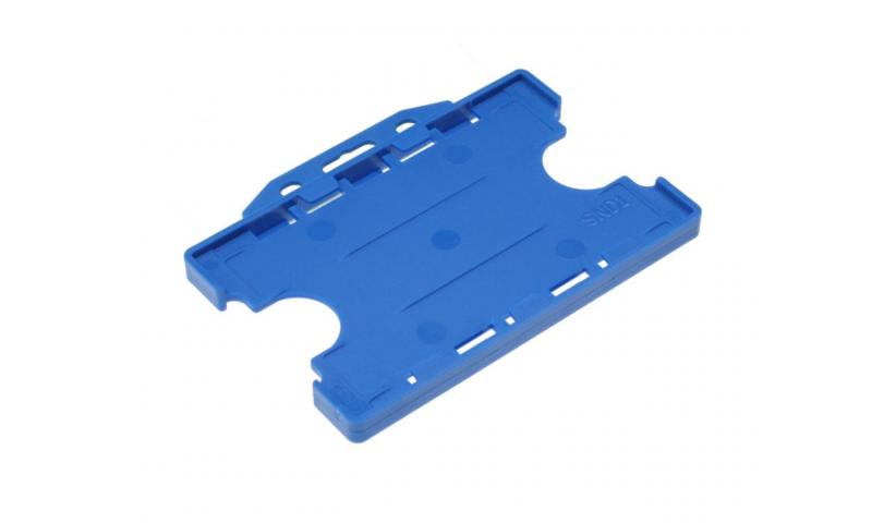Plastic Credit Card Holder, Landscape Blue