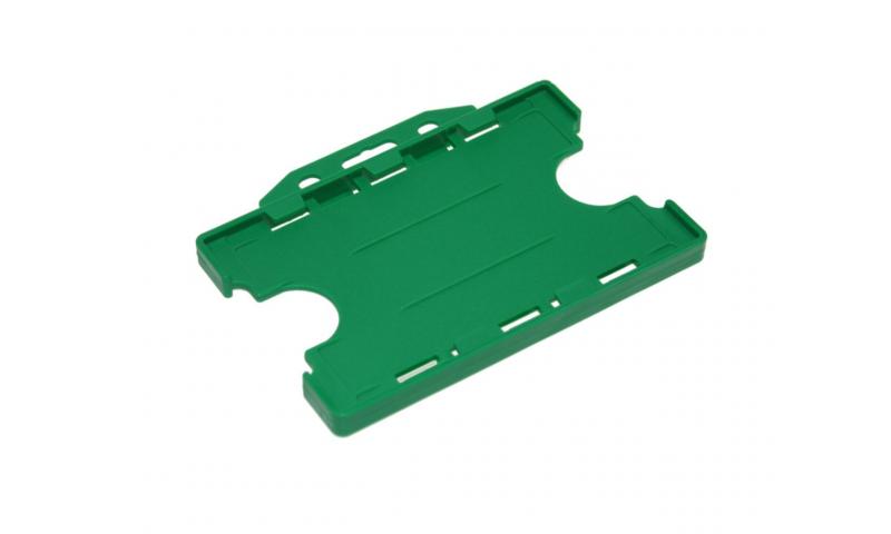 Plastic Credit Card Holder, Landscape Green