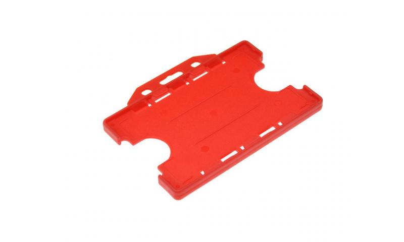 Plastic Credit Card Holder, Landscape Red