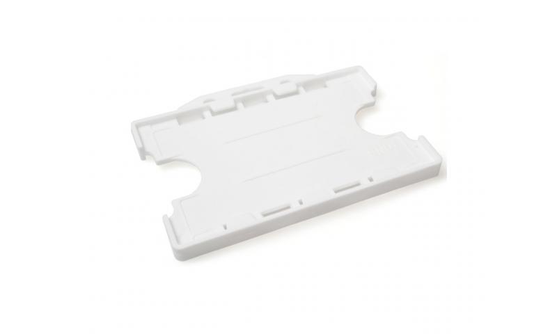 Plastic Credit Card Holder, Landscape White