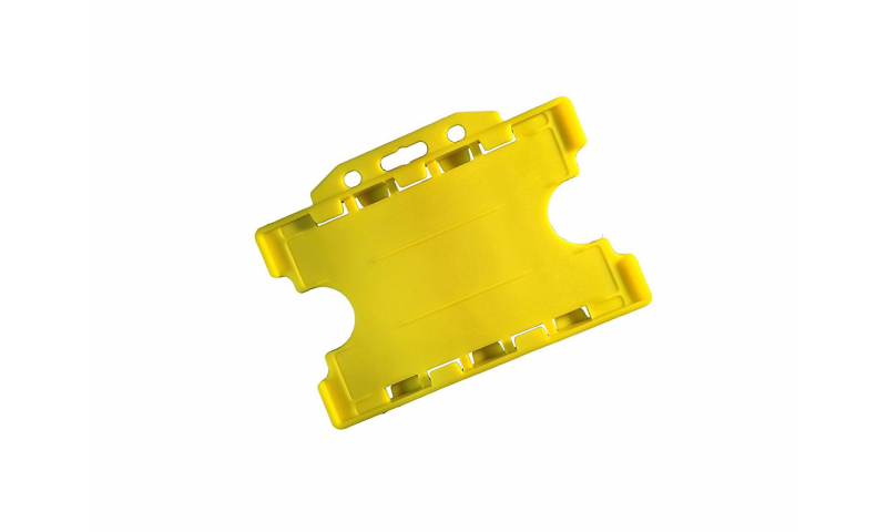 Plastic Credit Card Holder, Landscape Yellow