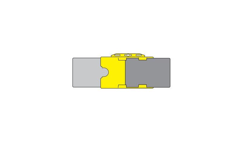 Plastic Credit Card Holder, Landscape Translucent (Holds 2 Cards)