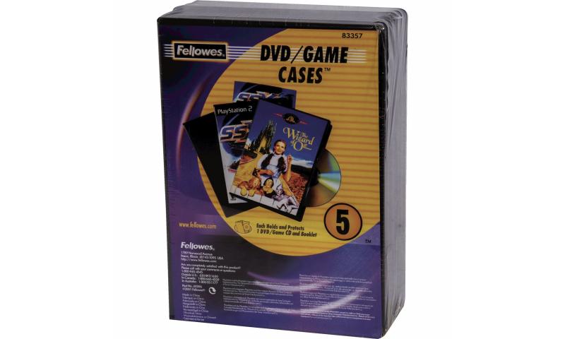 Fellowes DVD Game Case 5pk