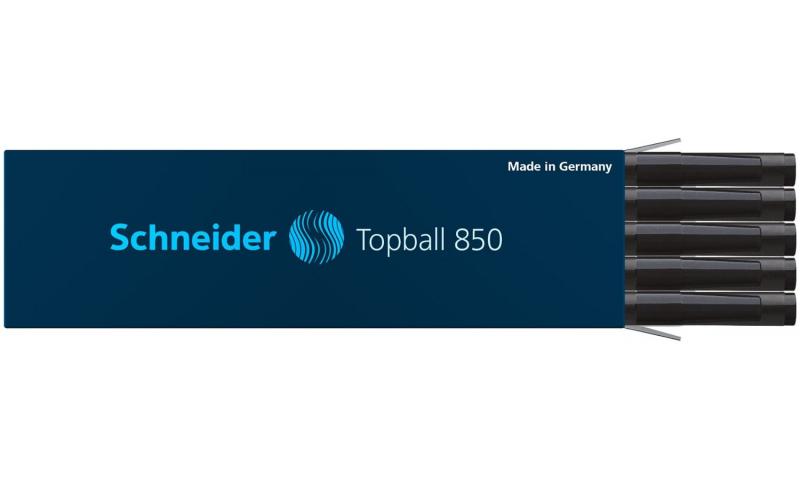 Schneider Topball 850 Rollerball Refill 0.5mm, Black