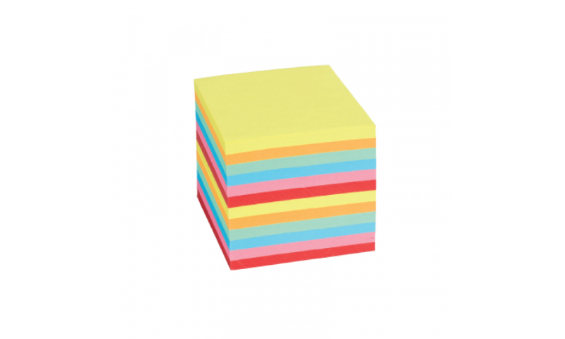 Brunnen Rainbow Paper Block, Glued At Edge, 90x90mm 700 Sheets.  (New Lower Price for 2021)