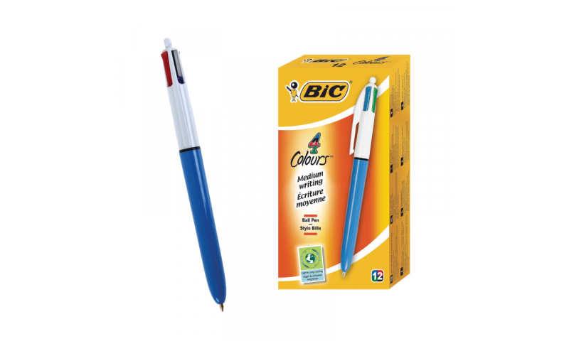 BIC 4 Colours Original, Boxed - Barcoded (New Lower Price for 2021)
