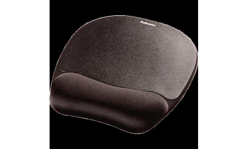 Fellowes Black Memory foam Mousepad Wristrest (New Lower Price for 2021)
