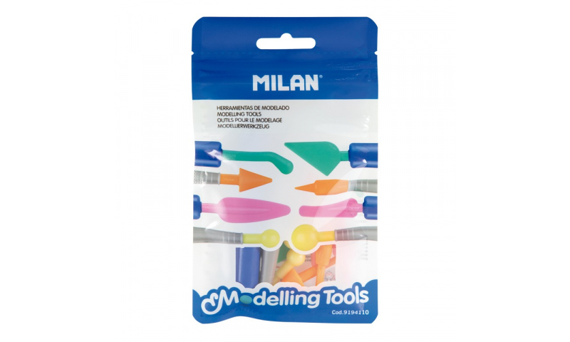 Milan Craft 10pce Set of Modelling Tools, Hangcarded