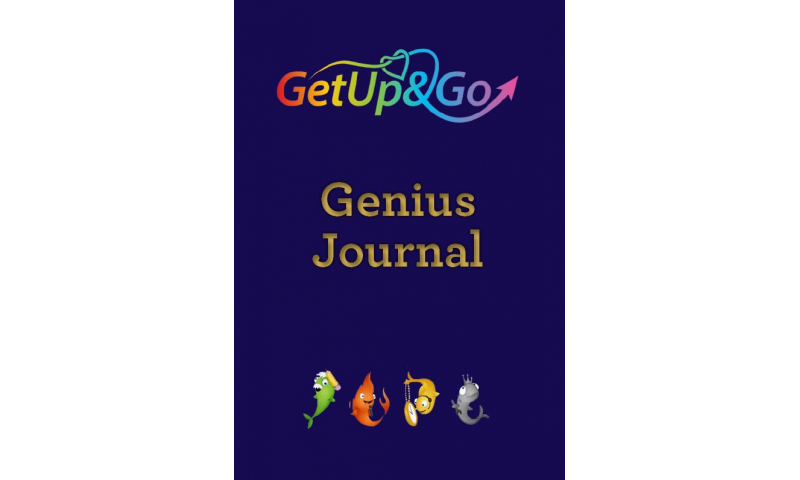 "Get Up & Go A5 Hardcase ""Genius Journal"" Book"