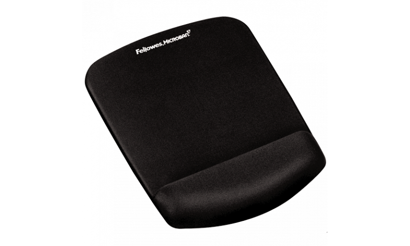 Fellowes PlushTouch™ Mousepad Wrist Support Black with Microban® Protection (New Lower Price for 2021)