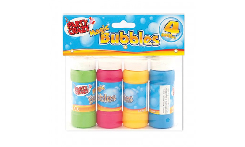 Magic Bubbles with Wand, 4pk Carded