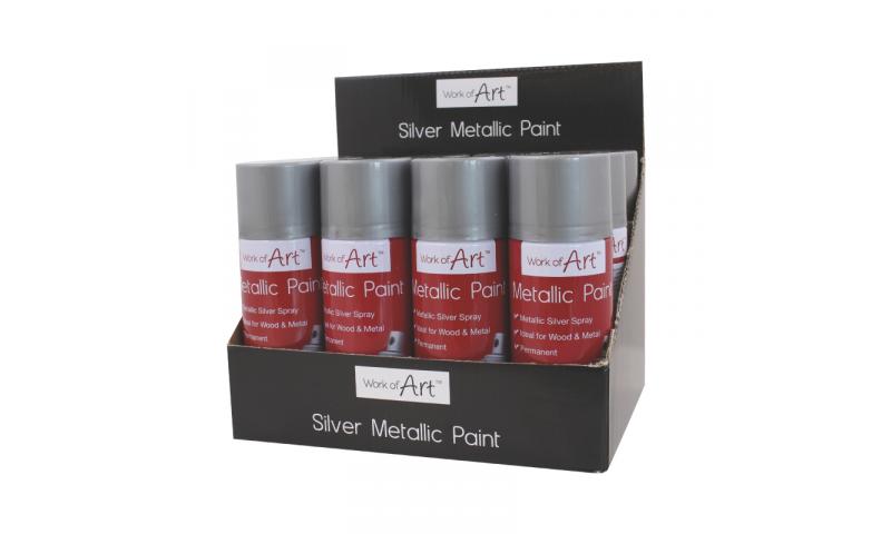 ArtBox Decorative Metallic Silver Spray Can 110ml