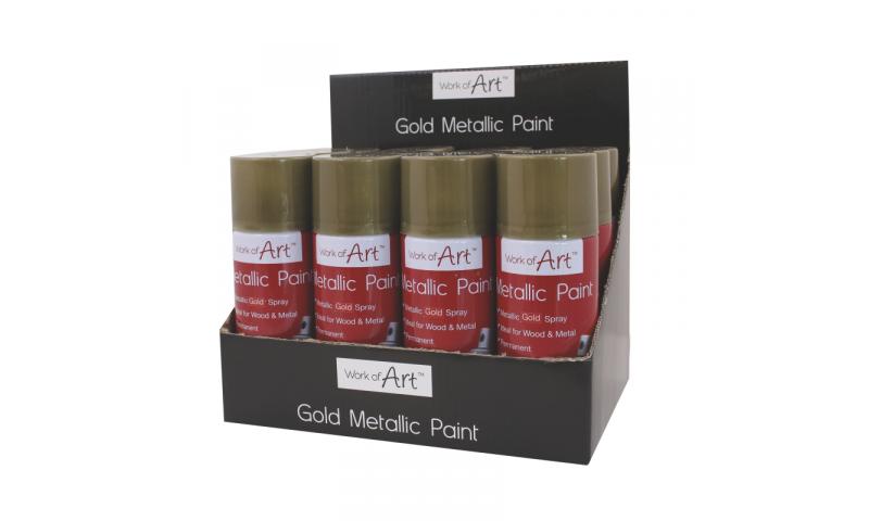 ArtBox Decorative Metallic Gold Spray Can, 110ml