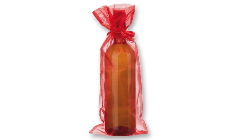 ORGANZA Branded Textile Bag for Wine Bottle