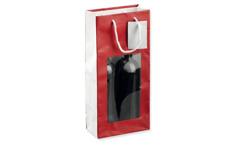 LEONA II Branded Paper Gift Bag for two Wine Bottles