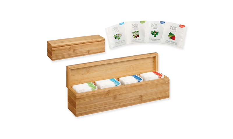 PAYTON Branded set of Tea Bags in Bamboo Wood Gift Box