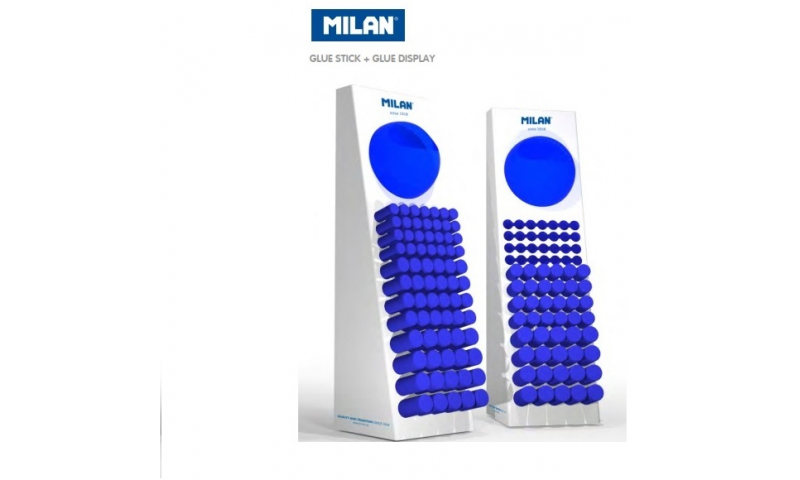 Milan Counter Display Filled with Glue Sticks & Glue tape (168 Pieces New Lower Price for 2021)