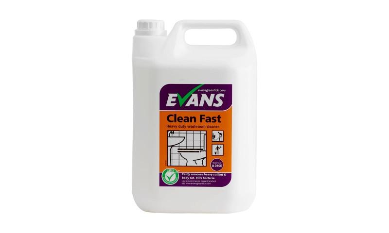 Evans Clean Fast Heavy Duty Washroom Cleaner, 5Ltr Drum, PCS 99588