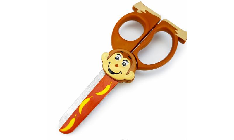 "Westcott""Wild Ones"" Childs Safari Design Scissors 130mm, 6 Asstd, Carded"