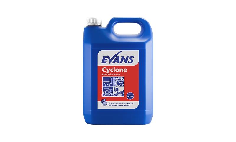 Evans Cyclone Extra Thick Bleach, 5Ltr Drum PCS99444