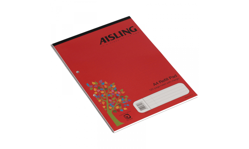 Aisling A4 Headbound Refill Pad F/M 60 Leaf (A4FMH) New Lower Price for 2021)