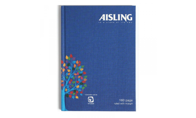 Aisling 9 x 7 Casebound Ruled Book 160page F&M,