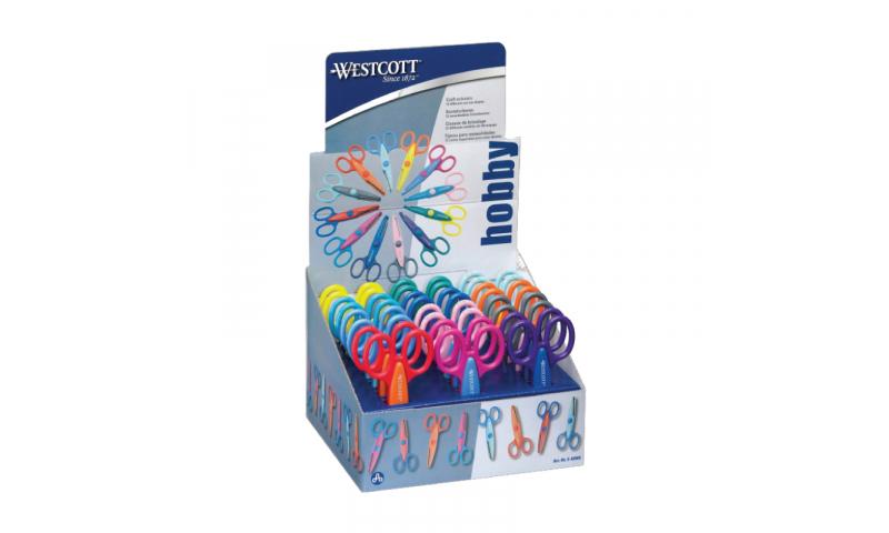 Westcott Craft Scissors 13mm, 5 Asstd Blades, Display