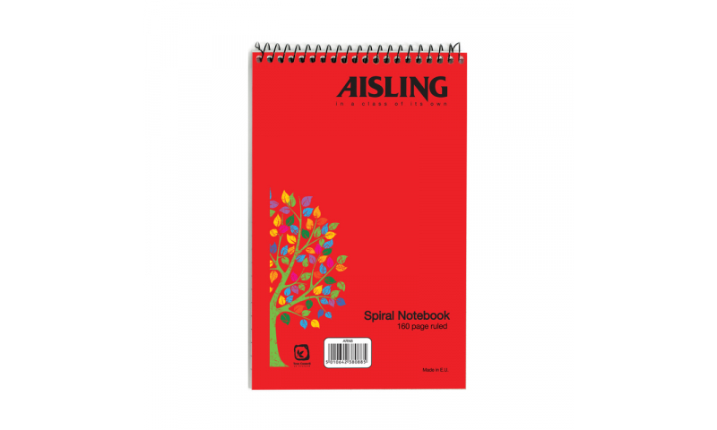 """Aisling 8x5"""" Spiral Reporters Notebook 100 Page, 10 Pack"""