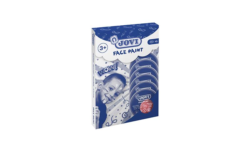 JOVI Face Paint Tablet, 8ml, 6 Pack, 1 Colour, 12 Colours to choose.