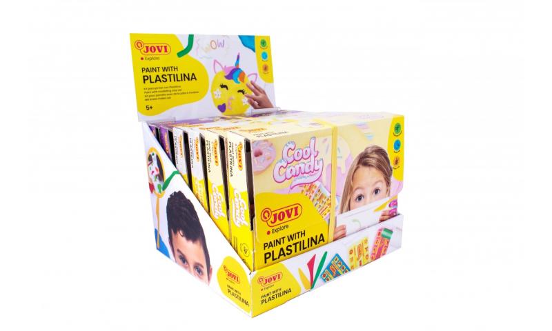 JOVI Paint with Plastilina 18pce Kits, 3 Asstd Titles in CDU