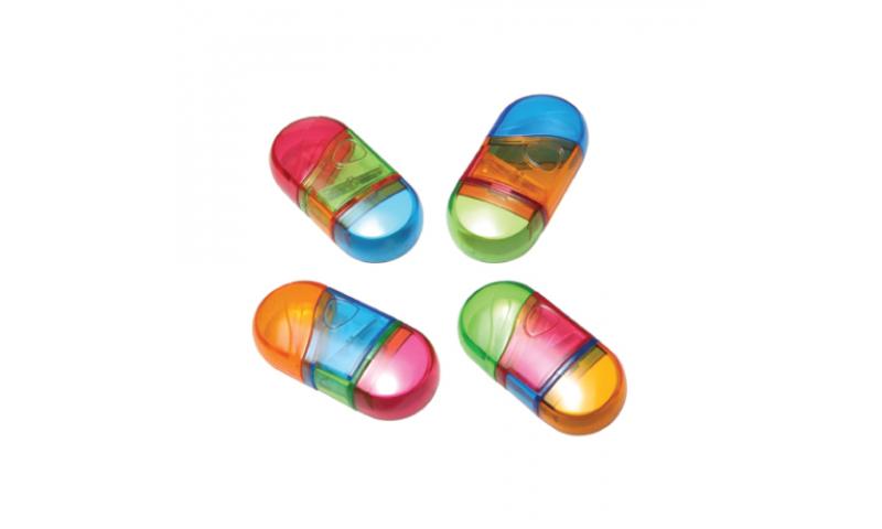 Novelty Glitter Twist Sharpen/Eraser