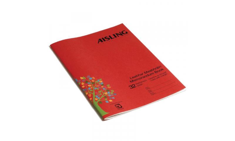 Aisling A4 Memorandum Book 32 Page F&M