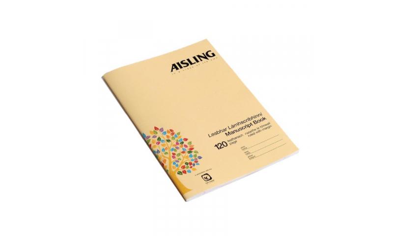 Aisling A4 Soft Cover Manuscript Book 120 Page F&M,  (46633)