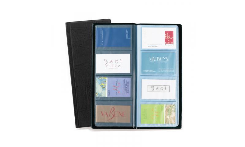 Rapesco Slim Business Card Book, 4 Up, 80 Capacity, PVC Cover